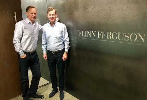 Parker Ferguson, left, and Dan Flinn, co-founders of Seattle real estate company Flinn Ferguson. (Photo: Business Wire)