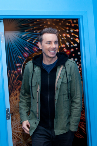 "Actor and writer Dax Shepard ""gets cheeky"" in Charmin Restrooms, on December 6, 2017 in New York City. Charmin officially opened Charmin Restrooms in Times Square, giving New York City the one thing it lacks – clean, free restrooms. (Photo: Business Wire)"