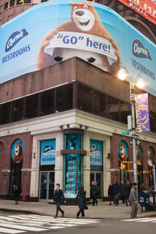 Charmin opens Charmin Restrooms, an entire storefront of free bathrooms in the heart of Times Square ...