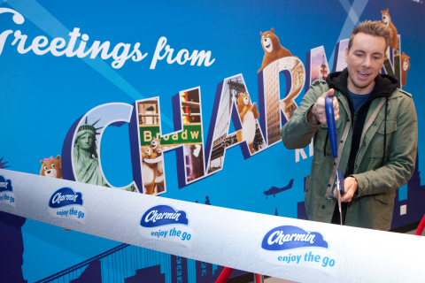Charmin teams up with actor and writer Dax Shepard to celebrate the opening of Charmin Restrooms, an entire storefront of free restrooms in the heart of Times Square on December 6, 2017. Charmin Restrooms offers users an immersive Charmin experience like never before… start to flush. (Photo: Business Wire)