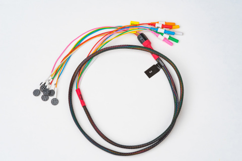 A single array of electrodes, part of the MR Conditional Quick Connect System™. The appearance of th ...
