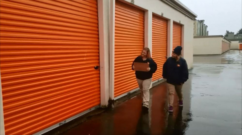 Watch the finalists of the Public Storage Holiday Stories video contest, including this group based near Tacoma, Washington, on the Public Storage YouTube channel. Videos with the most views by December 12, 2017 will win $250! (Photo: Business Wire)