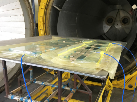 Transparent Electricity-Generating SolarWindow™ Modules Achieve Manufacturing Breakthrough at Commercial Window Fabricator (Photo: Business Wire)