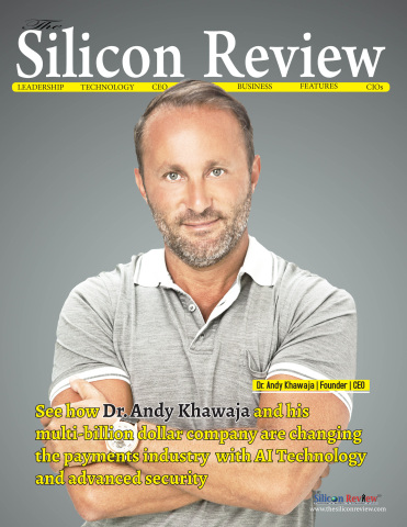 Allied Wallet's Founder and CEO - Dr. Andy Khawaja - on Silicon Review Magazine (Photo: Business Wir ...