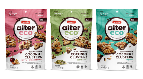 Alter Eco Dark Chocolate Coconut Clusters (Photo: Business Wire)