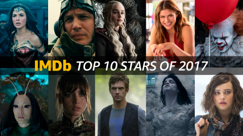 IMDb's Top Stars of 2017, as determined by page views. IMDb is the #1 movie website in the world. (Photo courtesy of IMDb)