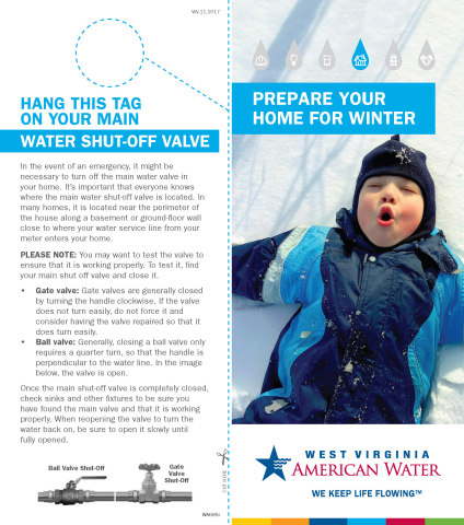 West Virginia American Water tips on preparing your home for winter (Graphic: Business Wire)