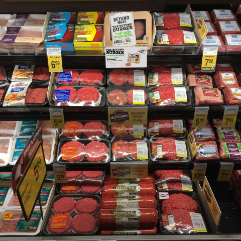 The revolutionary Beyond Burger is now available in the meat case at more than 5,000 grocery stores  ...