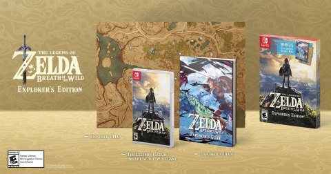 Players can purchase The Legend of Zelda: Breath of the Wild – Explorer's Edition, a limited bundle that includes the critically acclaimed Nintendo Switch game, a 100-page explorer's guide and a two-sided map at a suggested retail price of $59.99. (Photo: Business Wire)