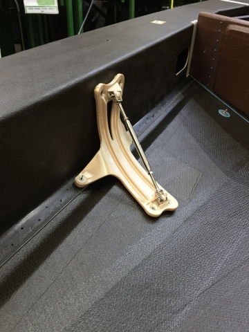 3D printed manufacturing tool produced using Stratasys' Fortus 450mc 3D Printer in ULTEM 9085 material, enabling Indaero to produce complex shapes that perfectly fit the curvature of aircraft panels -- not possible using traditional aluminum tools. (Photo: Business Wire)