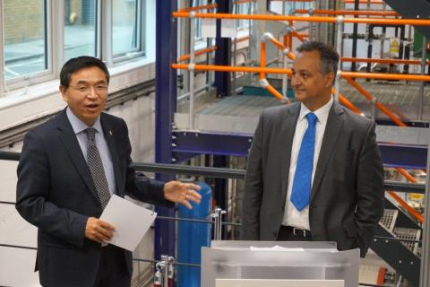 University of Surrey President and Vice-Chancellor, Professor Max Lu, and Fluor's Senior Vice Presid ...
