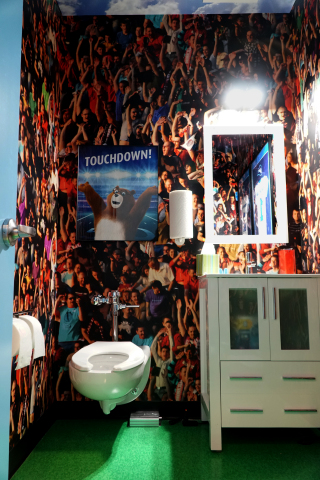 "Charmin Restroom ""Stadium Stall"" (Photo: Business Wire)"