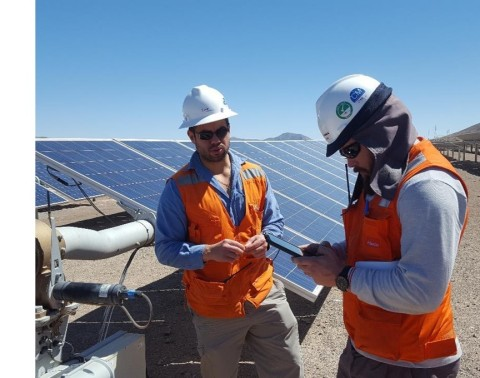 EDF Renewable Services provides operations and maintenance to the Bolero Solar Project in Chile. (Photo: Business Wire)