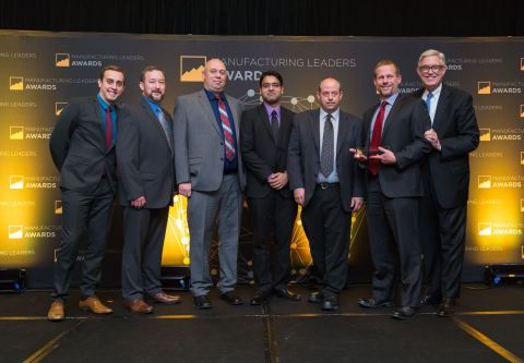The PPC team accepts the award for Operational Excellence at the 2017 Manufacturing Leaders Awards.  ...