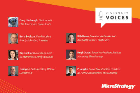 Speaker highlights from MicroStrategy World 2018 Visionary Voices (Photo: Business Wire)