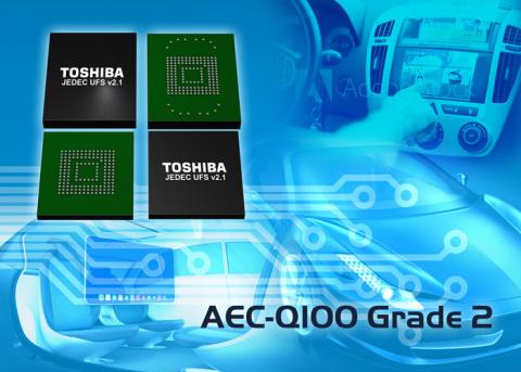 Toshiba's new Automotive UFS supports a wide temperature range, meets AEC-Q100 Grade2 requirements a ...