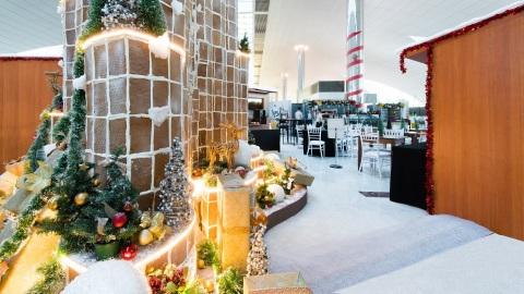 Winter Wonderland DXB arrives at Dubai International Airport (Photo: AETOSWire)