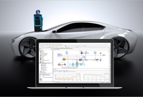 ESI's SimulationX model of an electric vehicle including WLTP driving cycle, cooling system for the battery and the electric machine, as well as the cabin heating and a driver model. (Photo: Business Wire)