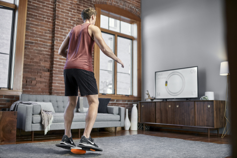 Modern Movement® M-Pad™ Balance & Strength Trainer offers interactive tracking software and provides a wide range of motion that better replicates real-life movements. (Photo: Business Wire)