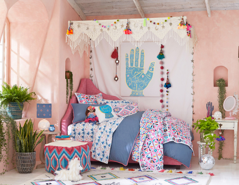 Magic Disco Caravan room in the Justina Blakeney for Pottery Barn Kids Collection.  (Photo: Business Wire)
