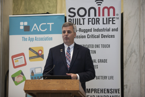 "Sonim Technologies, in partnership with ACT | The App Association, held an event on Capitol Hill entitled ""The Future of First Responder Technology"" last week. (Photo: Business Wire)"