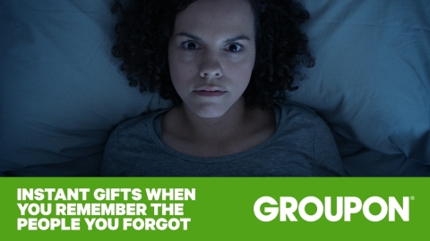 You know that moment when you remember who you forgot to get a present for on your shopping list? Groupon––the only holiday shopping destination that offers instant, last-minute gifting options for everyone on your list ranging from paint classes to sushi nights to no-chip manicures to family activities––does. (Graphic: Business Wire)