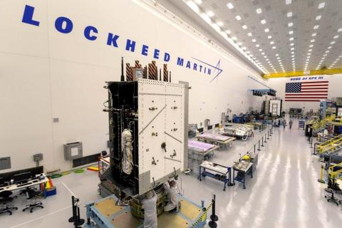 The third Harris navigation payload has been fully integrated onto GPS III Space Vehicle #3, picture ...