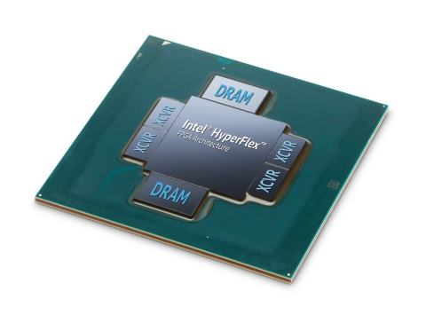 The Intel® Stratix® 10 MX FPGA is the industry's first field programmable gate array (FPGA) with integrated High Bandwidth Memory DRAM (HBM2). By integrating the FPGA and the HBM2, Intel Stratix 10 MX FPGAs offer up to 10 times the memory bandwidth compared with standalone DDR memory solutions. (Credit: Intel Corporation)