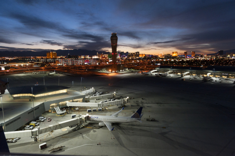 Musco's LED apron system improves visibility for pilots, air traffic controllers, and ground crews at McCarran International Airport. (Photo: Musco Lighting)