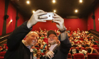 Director Rian Johnson takes selfie with Bob Hope USO Executive Director Bob Kurkjian ahead of an exclusive opening night screening of Star Wars: The Last Jedi with 150 active military service members at Westfield Century City's AMC Century 15 made possible through the efforts of Westfield at Los Angeles International Airports. (Photo: Business Wire)