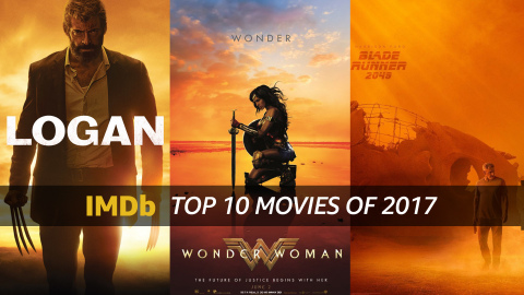 IMDb's Top Movies of 2017, as determined by page views. IMDb is the #1 movie website in the world. (Photo courtesy of IMDb)