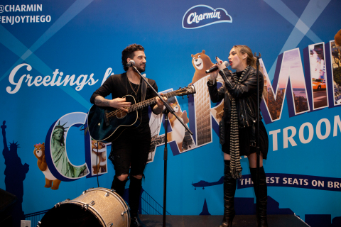 Alexander Jean Singer-Songwriter Duo, BC Jean and Mark Ballas perform live at Charmin Restrooms in T ...