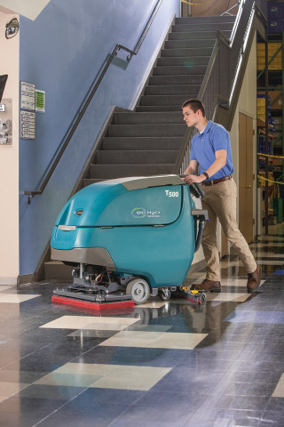The T500 / T500e Walk-Behind Floor Scrubbers provide optimal performance and consistent results on v ...