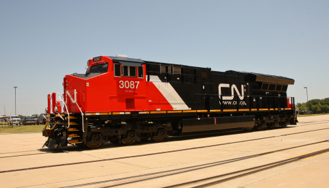 CN Tier 4 locomotive at GE Transportation's Fort Worth, Texas, plant. (Photo: GE)