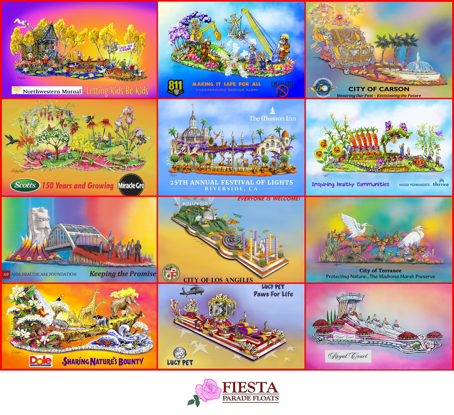 Fiesta Parade Floats Celebrates Its 30th Year As The Rose Parade S