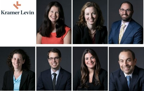 Kramer Levin Naftalis & Frankel LLP announced that the following associates have been promoted to special counsel, effective January 1: Top Row (L-R):  Katrina Baker, Allison Gray, Jason Moff. Bottom Row (L-R): Jennifer Sharret, Adam Taubman, Julia Wachter; and Andrew Ward. (Photo: Business Wire)