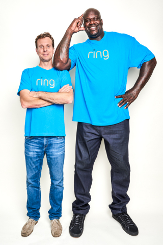 Shaquille O'Neal and Ring's founder Jamie Siminoff will host a Q&A session moderated by Bloomberg reporter Mark Gurman to discuss the future of neighborhood security at CES 2018. (Photo: Business Wire)