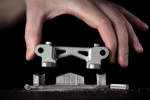 Desktop Metal's patented Separable Supports make it easy to remove support structures by hand. (Phot ...