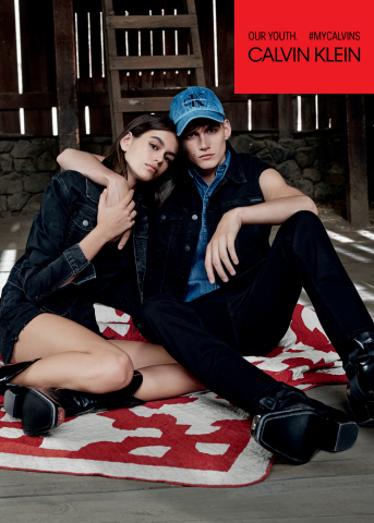 Calvin Klein Jeans New #MYCALVINS Global Ad Campaign Features Model Siblings Kaia Gerber and Presley Gerber