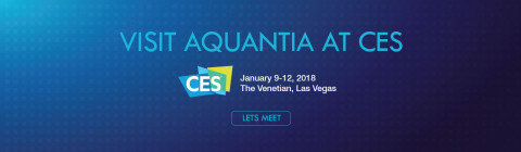 Contact connect@aquantia.com to meet with Aquantia at CES! (Graphic: Business Wire)