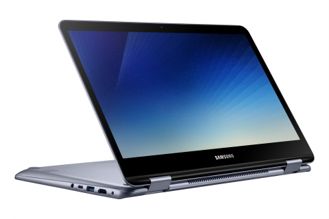The Samsung Notebook 7 Spin (2018), is a versatile, easy-to-use notebook that is designed for the workplace, classroom and home, and will be available in select countries starting in the first quarter of 2018 in the U.S. (Photo: Business Wire)