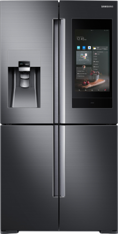 Samsung Debuts Next Generation of Family Hub Refrigerator at CES 2018 (Photo: Business Wire)