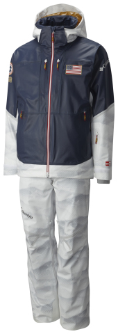 Columbia's U.S. moguls ski jacket designed for the U.S. Freestyle Ski Team athletes competing in the ...