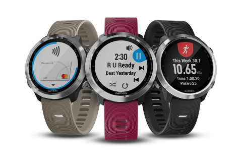 Introducing the Garmin Forerunner 645 and 645 Music. (Photo: Business Wire)
