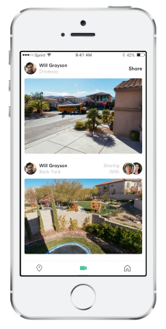 With a neighbor's permission, users can view live video from their neighbors' outdoor or doorbell cameras. (Photo: Business Wire)