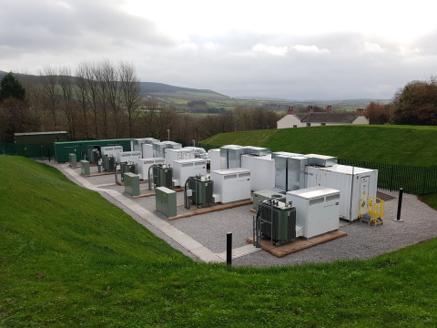 10MW energy storage system recently commissioned by NEC Energy Solutions in Cleator, UK for VLC Ener ...