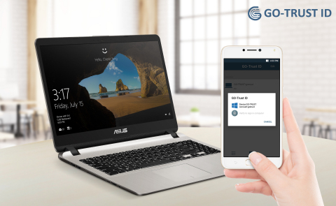 Your Phone to Securely Login is available on ASUS X507 Powered by GO-Trust ID (Photo: Business Wire)