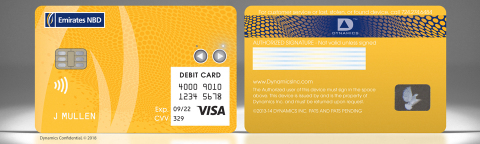 The Dynamics Inc and Emirates NBD Wallet Card™ (Photo: Business Wire)