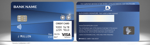 The Dynamics Inc and Visa Wallet Card™ (Photo: Business Wire)