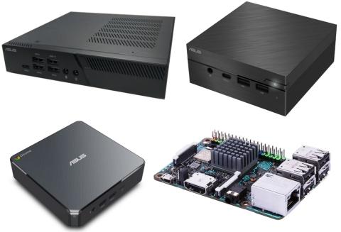 ASUS Showcases Small Form Factor Solutions at CES 2018: New PB40 and PN40 Mini PCs, Chromebox 3 and Tinker Board S. (Photo: Business Wire)